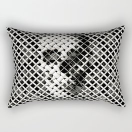 Wicker Skull Rectangular Pillow