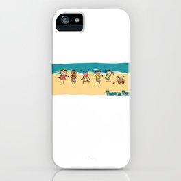Happy Time Beach Kids iPhone Case