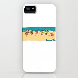 Happy Time Beach Kids iPhone Case