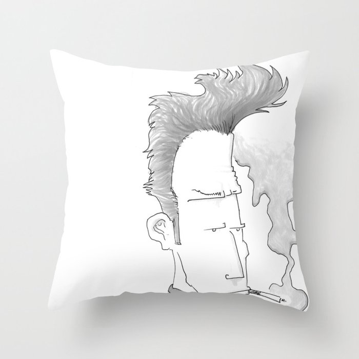 Big-haired Smoker #1 Throw Pillow