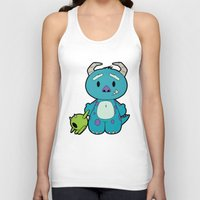 monster inc Tank Tops featuring Hello Monster by Pimator24