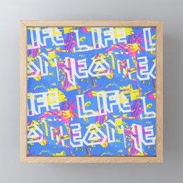 Neon Life! Framed Mini Art Print