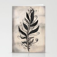feather Stationery Cards featuring FEATHER by Nika