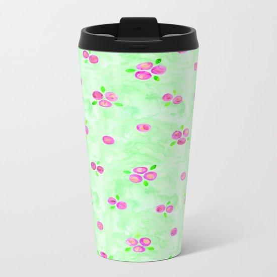 Roses Pattern 01 Metal Travel Mug