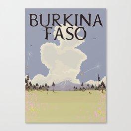 Burkina Faso Travel print Canvas Print