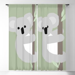 Koala, Australian wildlife, geometric Blackout Curtain