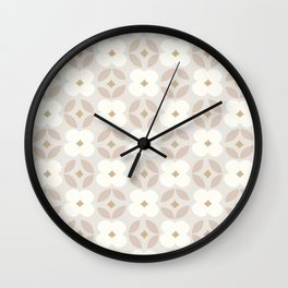 Cotton Blooms Pattern Wall Clock