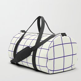 Window Panes, Navy and Cream Duffle Bag