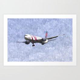 Delta Airlines Boeing 767 Art Art Print