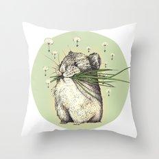 Hamster Love Throw Pillow