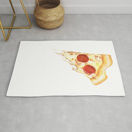 Heart shaped pizza Rug