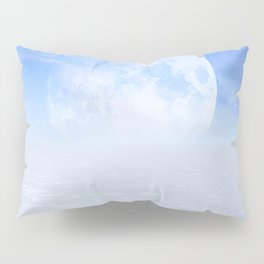 Desert Moon in Full Blue Pillow Sham