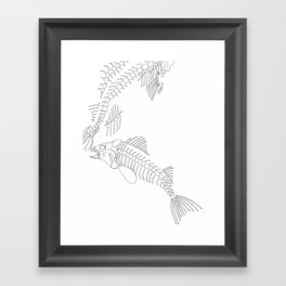 fish bones Framed Art Print