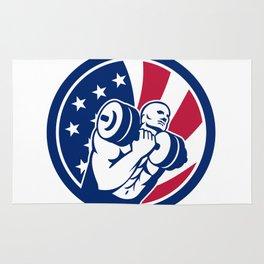 American Gym Circuit USA Flag Icon Rug