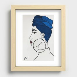 African fashio Recessed Framed Print