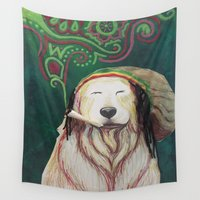 marley Wall Tapestries featuring The Marley Series: Bobmarley by Katie Duker