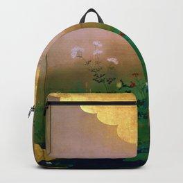 Shibata Zeshin - Flowers And Birds Of The Four Seasons - Digital Remastered Edition Backpack