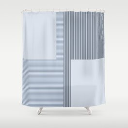 Figaro in Blue Shower Curtain