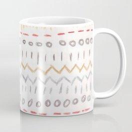 Metallic patterns - colored-pencil design Coffee Mug