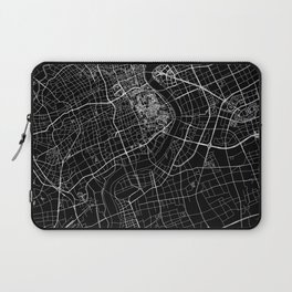 Shanghai Black Map Laptop Sleeve