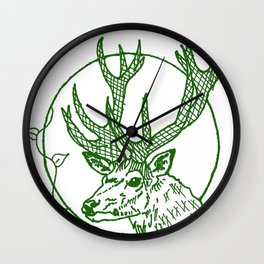 Forest Lover's Deer Wall Clock