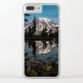 Rainier Reflection 2018 Clear iPhone Case
