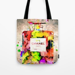 No 5 Grunge Tote Bag