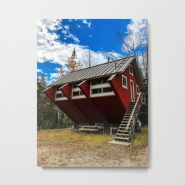Unique Cabin in Maine Metal Print