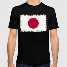 Japanese Flag Mens Fitted Tee Black MEDIUM