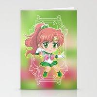 sailor jupiter Stationery Cards featuring Sailor Jupiter by Neo Crystal Tokyo