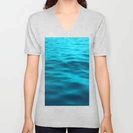 Water : Teal Tranquility Unisex V-Neck