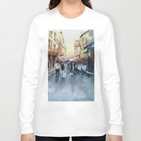 paris Long Sleeve T-shirts featuring PARIS by Nicolas Jolly