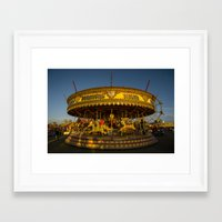 carousel Framed Art Prints featuring Carousel  by Rob Hawkins Photography