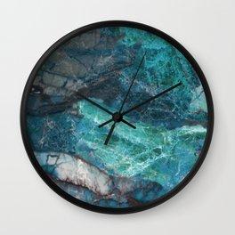 Cerulean Blue Marble Wall Clock