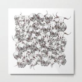 Farm Skull Metal Print