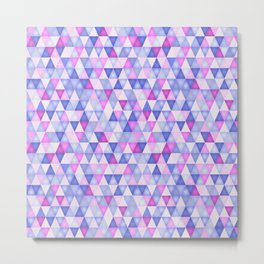 Ultraviolet mosaic Metal Print