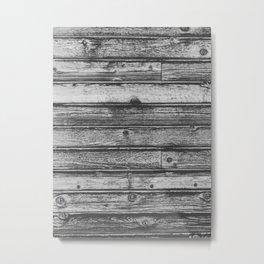 Weathered Wood Wall Metal Print