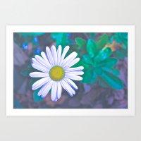 Daisy Lightning Art Print