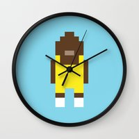 teen wolf Wall Clocks featuring Teen Wolf by Pixel Icons