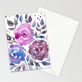 Dreamy Watercolor Flowers Stationery Cards