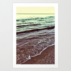 Green Ocean Waves Art Print