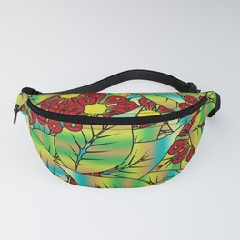 Foliage and flowers Fanny Pack