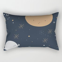 The Moon and the Stars Rectangular Pillow