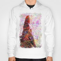 kandinsky Hoodies featuring DayDreaming - Intense Multi-Color Vibrant Abstract Mixed Media Digital Painting by Mark Compton