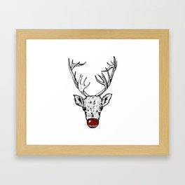 Chritsmas Reindeer Framed Art Print