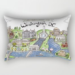 Washington DC Rectangular Pillow