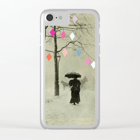 Christmas Day Clear iPhone Case
