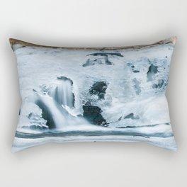 Water flowing through ice Rectangular Pillow