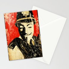 Anonymous Police Officer Stationery Cards