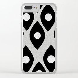 Black and White Pattern Fish Eye Design Clear iPhone Case